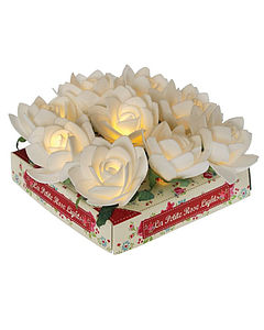 La Petite Rose Garden LED Lights   White - home