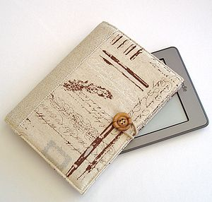 Handmade Kindle Cover In Vintage Style Script - bags & purses