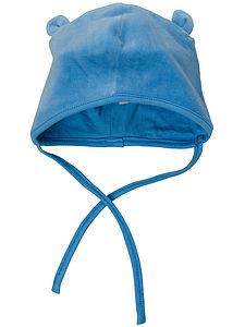 Newborn Micro Blue Velour Hat