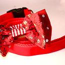 Miss Scarlett Bow Tie Dog Collar And Lead