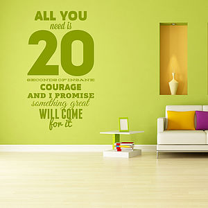 'All You Need Is…' Wall Sticker - office & study