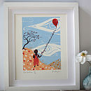 The Red Balloon. Limited Silkscreen Print