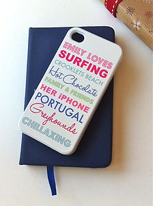 Personalised iPhone Case Loves - shop by price