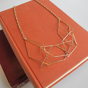Geometric Statement Necklace - gifts for her