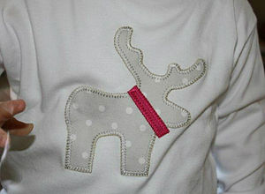 25% Off White Christmas Reindeer Top/ Jumper