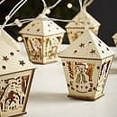 Wooden House Light Garland