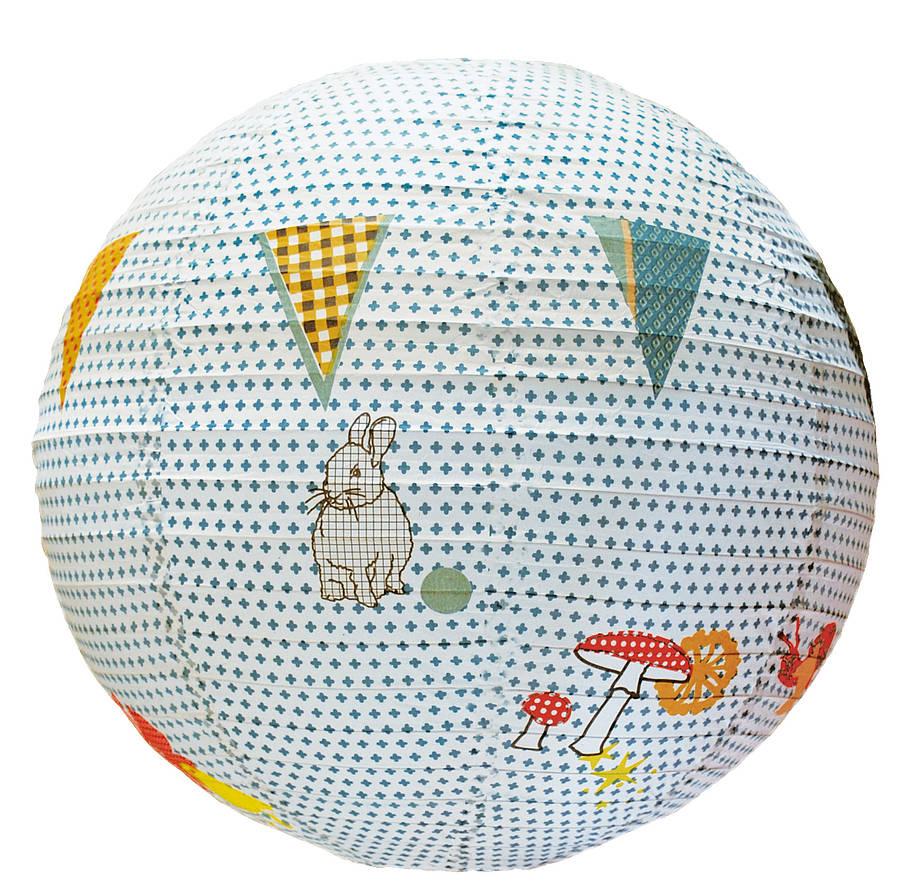 Rabbit paper lampshade by little yellow birds - Lampe boule japonaise ...