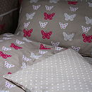 Pink Butterfly Single Duvet Set