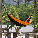 ORANGE TRAVEL HAMMOCK DOUBLE