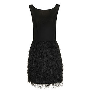 Charlston Feather Dress - dresses