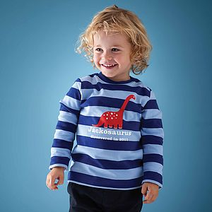 Personalised Dippy Dinosaur T Shirt - for under 5's