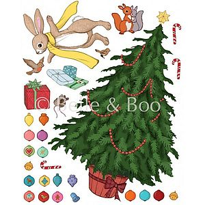 'Decorate Me ' Christmas Tree Wall Sticker