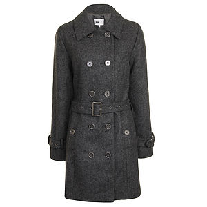 50% Off: Classic Belted Wool Coat - coats & jackets