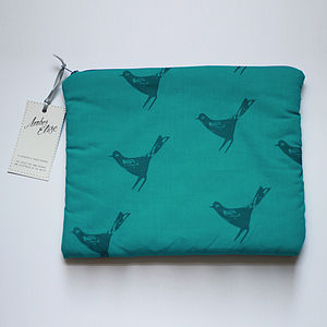 Cosmetics And Travel Bag With Bird Print - mother's day gifts