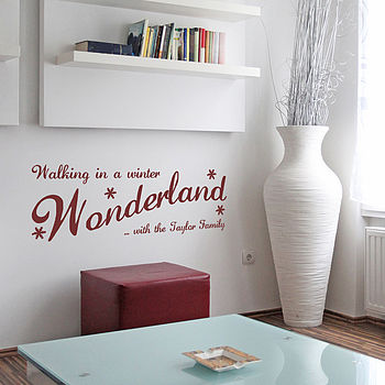 Personalised Winter Wonderland Wall Sticker