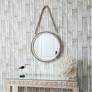 Round Rope Mirror With Rope Hanger - mirrors