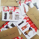 Pack Of Six Cats In Christmas Hats Gift Tags