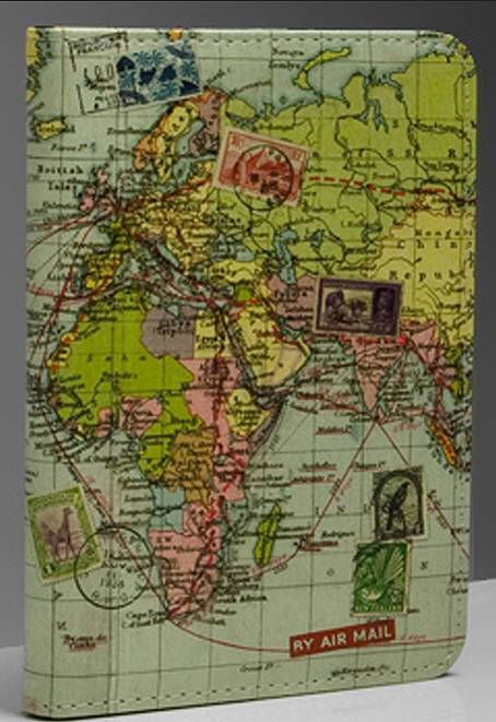 World map passport cover by thelittleboysroom notonthehighstreet world map passport cover gumiabroncs Image collections