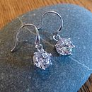 White Cubic Zirconia And Silver Drop Earrings
