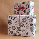 Five Sheets Of 'Baking Wrapping Paper'