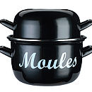Large Enamel Mussels Pot