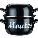 Large Enamel Mussels Pot