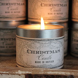 Christmas Tinned Candle - home accessories