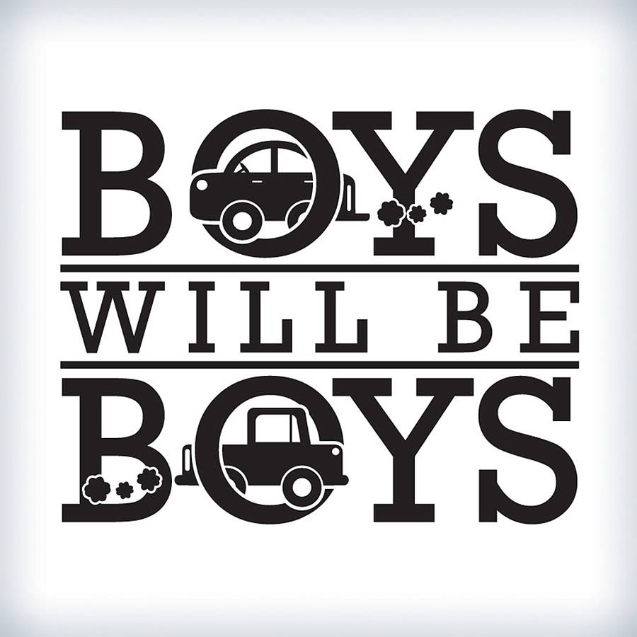 39 boys will be boys 39 wall sticker by wall art for Boys wall art