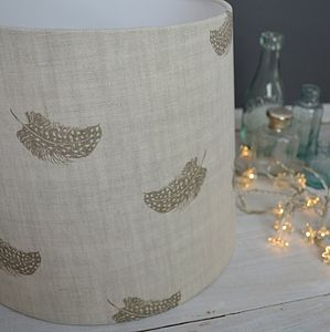 Falling Feathers Tapered Lampshade