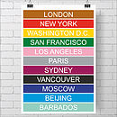 Personalised Destination Blind Print