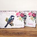 Bird, Floral Design Keepsake Box Tin