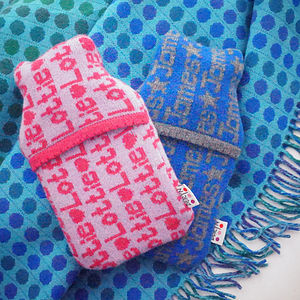 Personalised Mini Hot Water Bottle - hot water bottles & covers