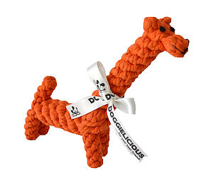 Gerald The Giraffe   Rope Dog Toy - dogs