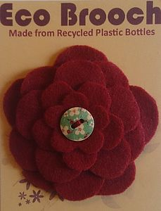 Eco Brooch From Recycled Plastic Bottles Red - women's jewellery