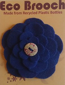 Eco Brooch From Recycled Plastic Bottles Blue - women's jewellery