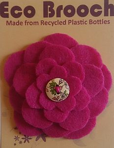 Eco Brooch From Recycled Plastic Bottles Pink - women's jewellery