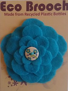 Eco Brooch From Recycled Plastic Bottles Aqua - women's jewellery
