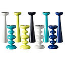 Candle Holders, Contemporary Bright Coloured Candle