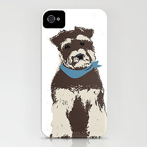 Miniature Schnauzer Dog On iPhone Case - phone & tablet covers & cases