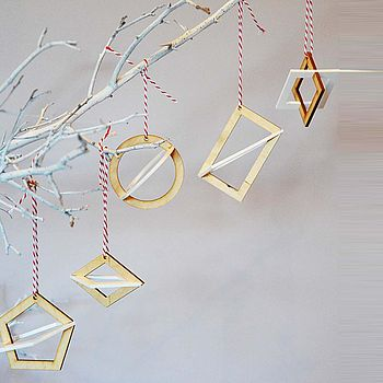 Geometric Wooden Christmas Decoration