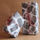 Five Sheets Of 'Cameras Wrapping Paper'