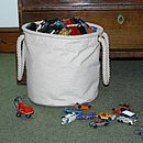 Medium Canvas Toy Storage Bucket