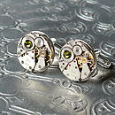 Round Steampunk Cufflinks