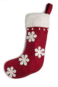 Felt Christmas Stockings - stockings & sacks