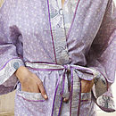 Cotton Kimono Dressing Gown In Spring Print