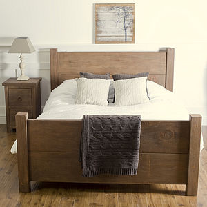 Chunky Wood Bed - furniture