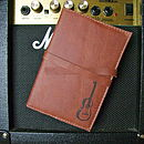 Guitar Print Leather Notebook