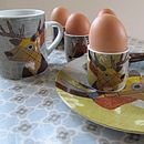 Beastie Stag, Hare, Badger Fox Egg Cups
