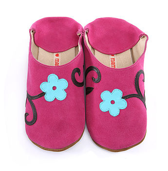 Orchid Flowers On Candy Shoes , Slippers