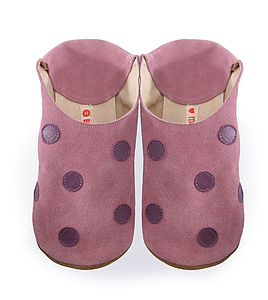 Polka Dot Rose Shoes , Slippers - slippers